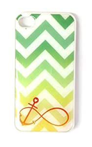 Mint and Yellow Ombre Chevron Iphone 6 Case - Anchor Infinity Iphone 6 Cover