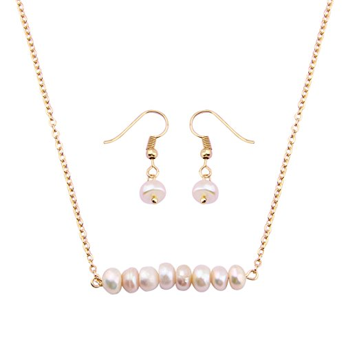Beaded Mother Of Pearl Jewelry Set - 7