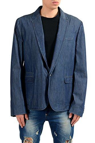 Dolce & Gabbana D&G Men's Blue One Button Blazer Sport Coat US 42 IT 52 Dolce & Gabbana Cotton Coat