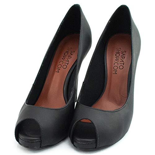 4fc552be81 Peep Toe Numeração Especial Sapato Show 19003  Amazon.com.br  Amazon Moda