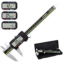Digital Caliper Stainless Steel with Large LCD Screen 6 Inch/Millimeter/Fractions Conversion Sattiyrch Electronic Vernier Caliper Measuring Tool