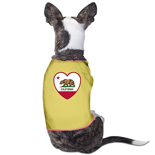 California Flag Heart Fashion Summer Puppy Clothes Pajamas Suitable For Lovely Small - Fashion California Valley