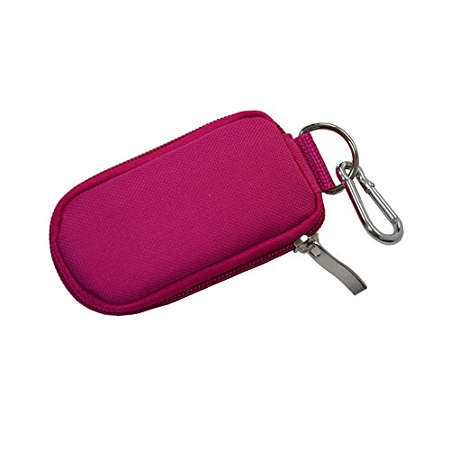 Keychain Essential Oil Carrying Case Holds 10 Bottles 2ml&3ml for Travel or Home Storage Shockproof Padded Thick Foam Inside with Six Colors(Rose)