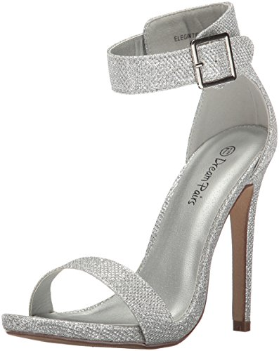 Women's Silver Elegantee DREAM PAIRS Glitter 7wX6q50x6
