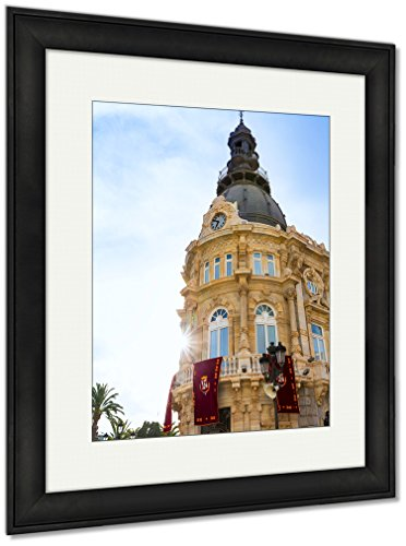 Ashley Framed Prints Ayuntamiento De Cartagena City Hall At Murcia Spain, Wall Art Home Decoration, Color, 40x34 (frame size), Black Frame, AG5528269 by Ashley Framed Prints