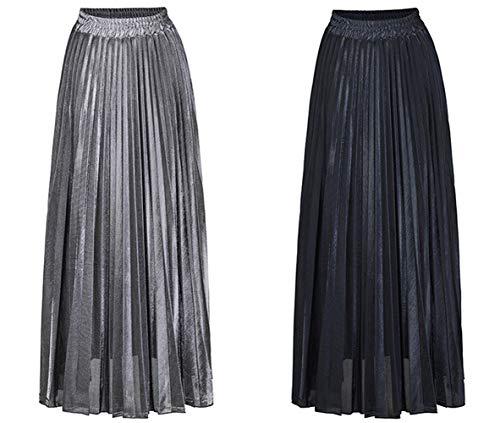 Pieghe Maxi Skirts Smalltile Gonne Nero Autunno Spiaggia Cocktail A Eleganti Festa Moda Donne Da Vita Casual Gonna Primavera Alta q0X4wg0p