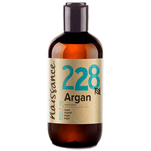 Naissance Moroccan Argan Oil, 8 fl oz - 100% Pure, Unscented, All Natural Carrier Oil, Strengthens and Conditions Hair and Nails, Suitable for Face and Skin Care, Anti-Ageing