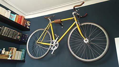 Play-Haus Design Walnut and Steel Indoor Bicycle Wall Mount Hanger Rack