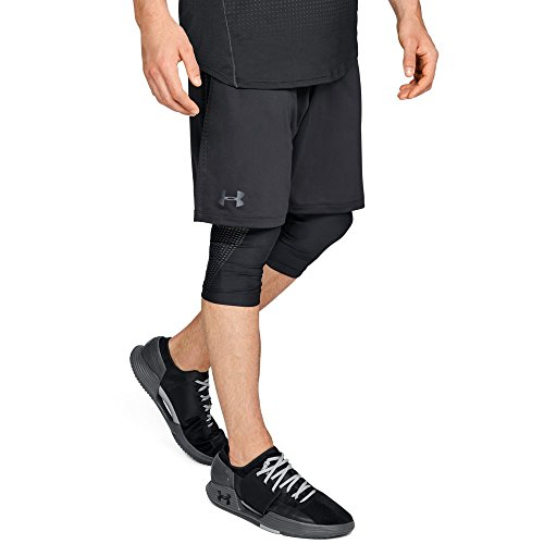 - Under Armour Men's MK-1 Patterned Shorts, Black (001)/Black, Large