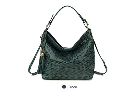 Serpentine Women Leather Handbags Luxury Snake Women Shoulder Bag 2018  Spring Ladies Hand Bags Casual Tote ... dc5704d5505be