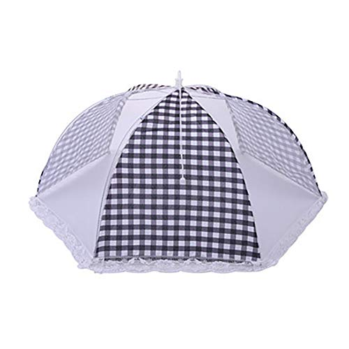 difcuyg5Ozw 18 inch Portable Round Grids Foldable Mesh Breathable Anti Fly Mosquito Dining Table Meal Durable Food Cover Black