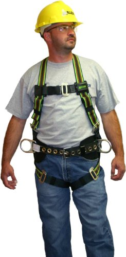 Miller by Honeywell E650-78/UGN DuraFlex 650 Series Full-Body Stretchable Harness with Mating Buckle Leg Straps, Universal, Green -