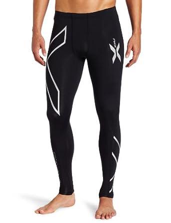 Amazon.com : 2XU Men's Compression Tights, Black/Silver, X