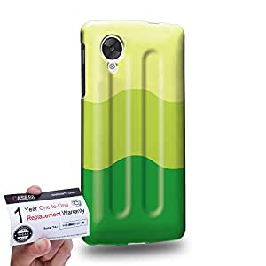 Case88 [LG Nexus 5] 3D impresa Carcasa/Funda dura para & Tarjeta de garantía - Art Hand Drawing Melon Flavor Ice Pop