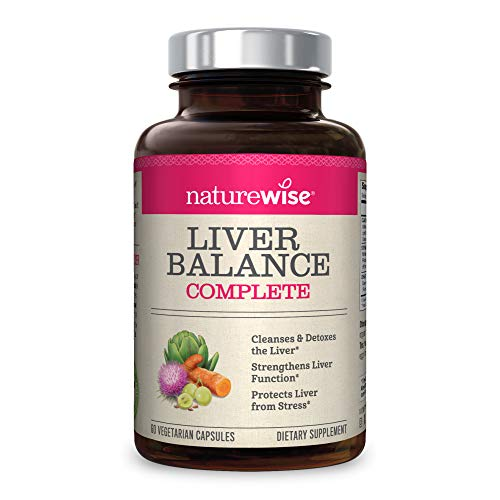 NatureWise Liver Cleanse Premium Detox | Advanced Triple Formula Liver Detoxifier Regenerator & Protector | Natural Herbal Supplements with Milk Thistle, Turmeric Curcumin & Dandelion Root | 60 Count