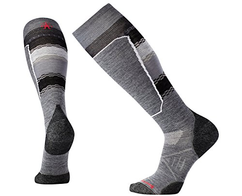 Smartwool Men's PhD Ski Light Elite Pattern Socks (Medium Gray) X-Large