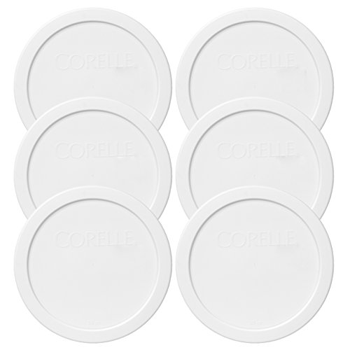 Corelle 428-PC 28oz 6.5 Round White Plastic Lid - 6 Pack