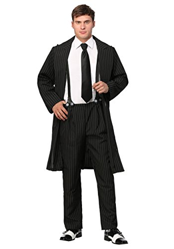 Black Zoot Suit Costume - L
