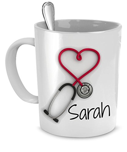 Personalized Stethoscope Coffee Doctors Printed
