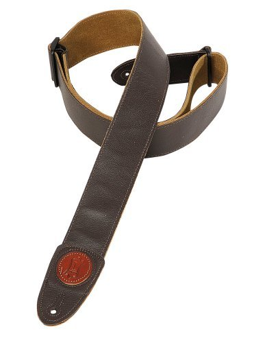 Levy's Leathers MSS7G-DBR Signature Series Garment Leather Guitar Strap, Dark ()