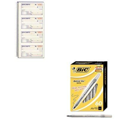 Kitabfsc1152bicgsm609bk – Value Kit – Bic Round Stic Kugelschreiber (bicgsm609bk) und Kardinal Marken Inc. Zweiteilige Rent Rechnung Buch (abfsc1152) B00MOOTUZG | Großartig