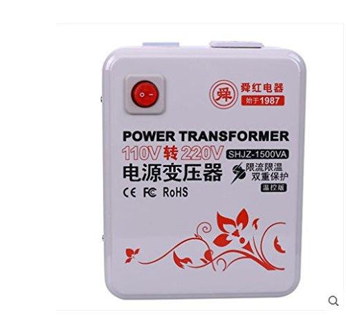 Accuni 1500W Temperature Controller Set Up Voltage Converter Transformer 110-120V to 220-240V (Hand Mixer 110v 220v)