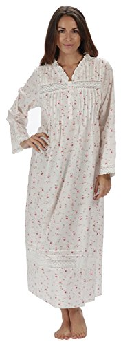 The 1 for U 100% Cotton Nightgown Vintage Design - Annabelle (XXL, Vintage Rose)