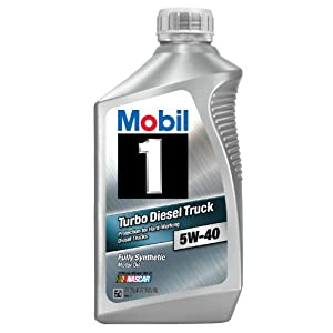 Mobil 1 44986 5W-40 Turbo Diesel Truck Synthetic Motor Oil - 1 Quart (Pack of 6)