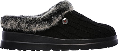 Skechers Bobs Cherish Bunny Hill Womens Slipper Zoccoli Nero-blk