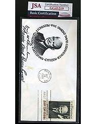 Mamie Eisenhower JSA Coa Hand Signed 1969 FDC Cache Autograph