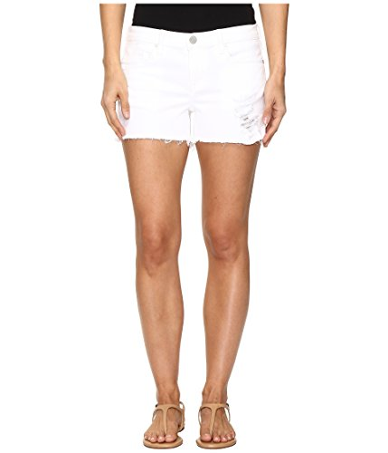 バスト血咽頭[ブランクニューヨークシティー] Blank NYC レディース Distressed White Shorts in White Lines パンツ White Lines 28 [並行輸入品]