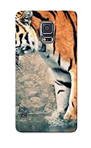 Exultantor Top Quality Case Cover For Galaxy S5 Case With Nice The Tiger Appearance