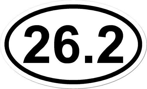 Runner 26.2 Marathon Oval (26.2, I Make Decals™, Oval Marathon Run car bumper window sticker 5