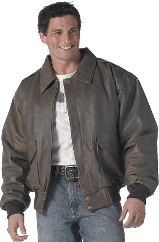 Amazon.com: Mens Jacket - A-2 Leather Flight Style Brown by
