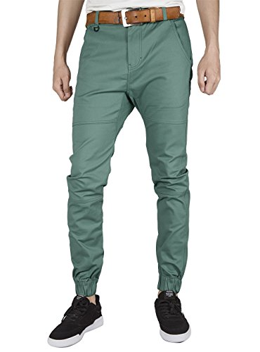 30892ed602859 ITALY MORN Men s Chino Jogger Pants Slim Fit Elastic Cuff