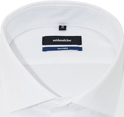 SEIDENSTICKER Tailored Hemd Langarm Haifischkragen Oxford weiß