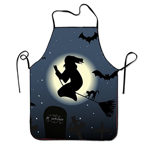 (FnLiu personalized Halloween aprons printed apron for Baking Kitchen Server)