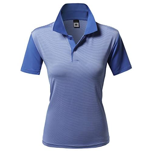 9ed9d771 Xpril Women's Solid Cool Dri-Fit Active Leisure Short Sleeve Polo T-shirt  Tee