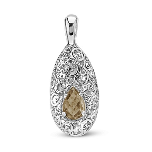 Carolyn Pollack Smoky Quartz Pendant Enhancer by Carolyn Pollack