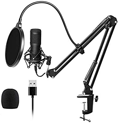 WANGOFUN USB Streaming Podcast PC Micrófono Profesional 96KHZ ...