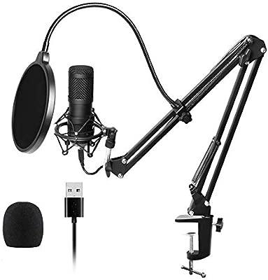 WANGOFUN USB Streaming Podcast PC Micrófono Profesional ...