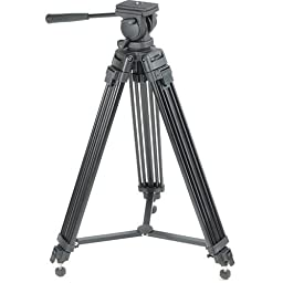 GG 650# Glide Gear Professional Video Camera Tripod w/ Fluid Drag Head