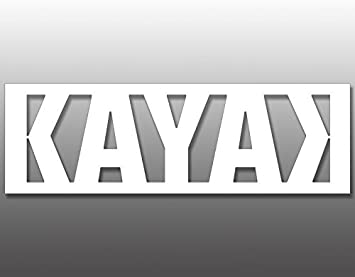 Kayak Person Vinyl Cut Decal Sticker With No Background7 Inch White Decal