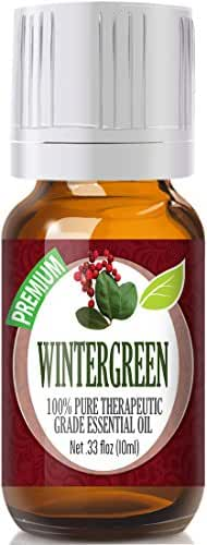 Wintergreen 100% Pure, Best Therapeutic Grade Essential Oil - 10ml