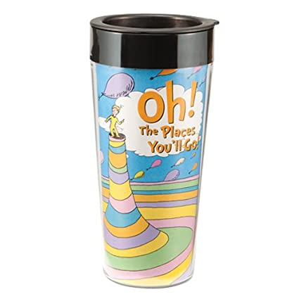 Vandor 17151 Dr. Seuss Oh The Places Youu0027ll Go 16 Oz Plastic Travel