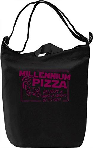 Millenium Pizza Borsa Giornaliera Canvas Canvas Day Bag| 100% Premium Cotton Canvas| DTG Printing|