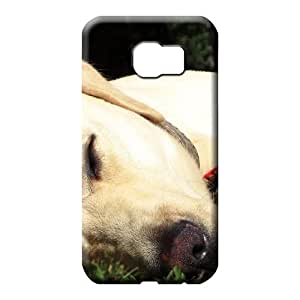 samsung galaxy s6 edge Shock-dirt PC High Quality phone case cover sleeping yellow lab