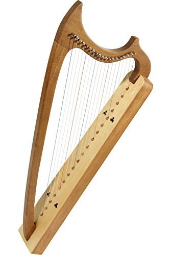EMS 19-String Gothic Harp - Solid Walnut by Roosebeck