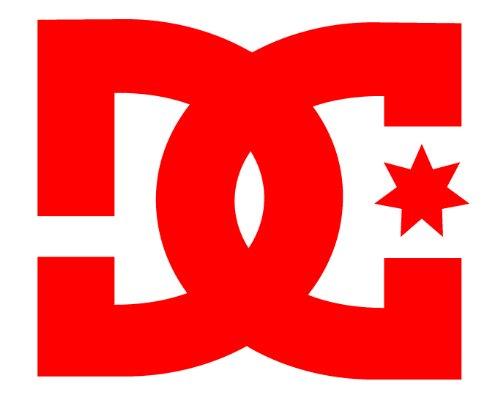 (DC Sticker - Red 6 inch- skate -DC shoes- surf - drift - rally rob dyrdek , ken block)
