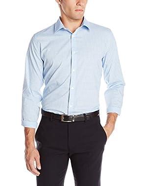Calvin Klein Men's Slim Fit Check Long Sleeve Non-Iron Button Down Shirt
